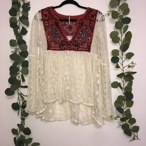 Free People Lace Top M